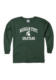 Michigan State Spartans Youth Green Classic Text T-Shirt