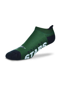 Dallas Stars Logo and Wordmark No Show Socks - Green