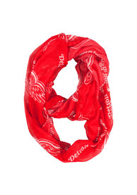 Detroit Red Wings Womens Sheer Infinity Scarf - Red