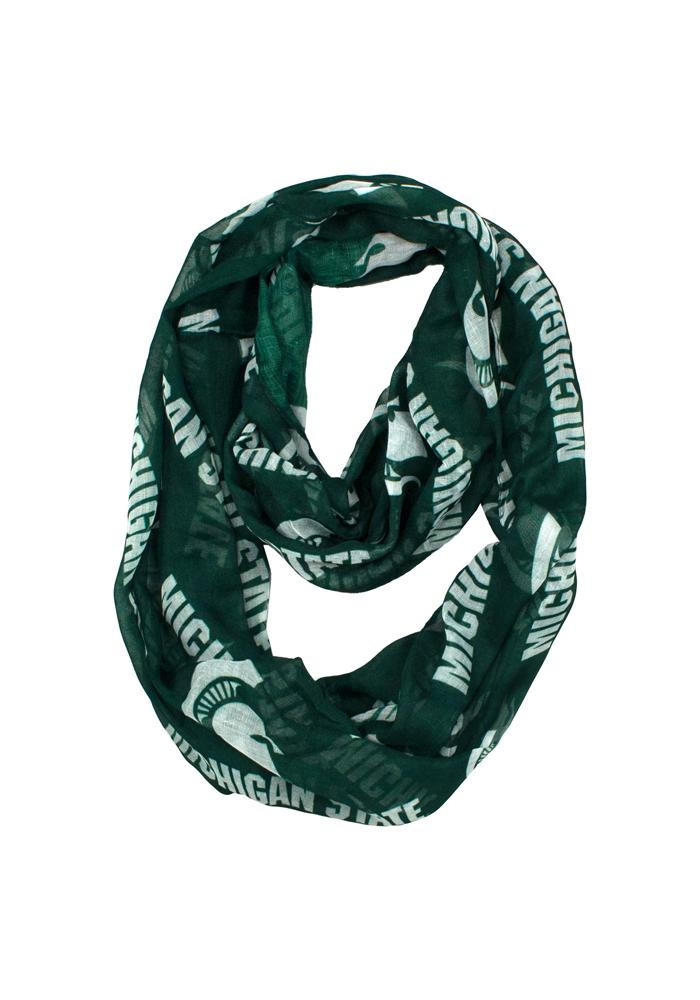Michigan State Spartans Sheer Infinity Womens Scarf - Image 1