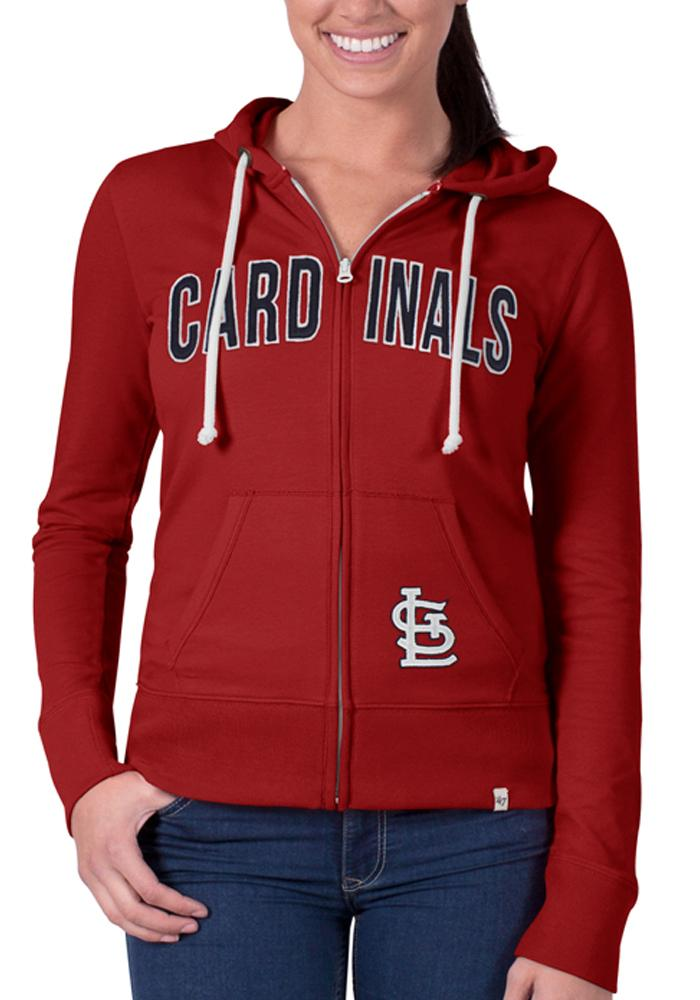 '47 St Louis Cardinals Womens Red Pep Rally Long Sleeve Full Zip Jacket - Image 1
