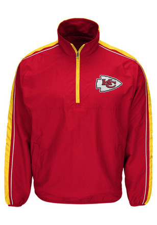 KC Chiefs Mens Red Touchback Pullover