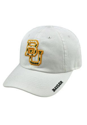 Top of the World Baylor Bears White Chevron Crew Adjustable Hat