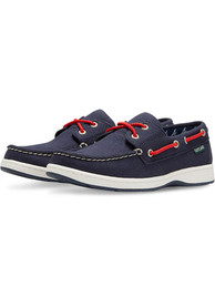 Atlanta Braves Womens Solstice Canvas Boat Shoes - Navy Blue