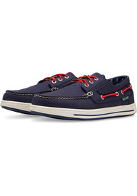 Atlanta Braves Adventure Canvas Boat Shoes - Blue