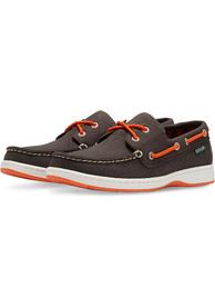 Baltimore Orioles Womens Solstice Canvas Boat Shoes - Black