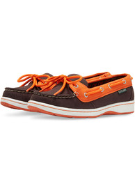 Baltimore Orioles Womens Sunset Canvas Boat Shoes - Black