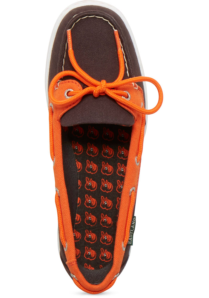 Baltimore Orioles Black Sunset Canvas Boat Womens Shoes - Image 2