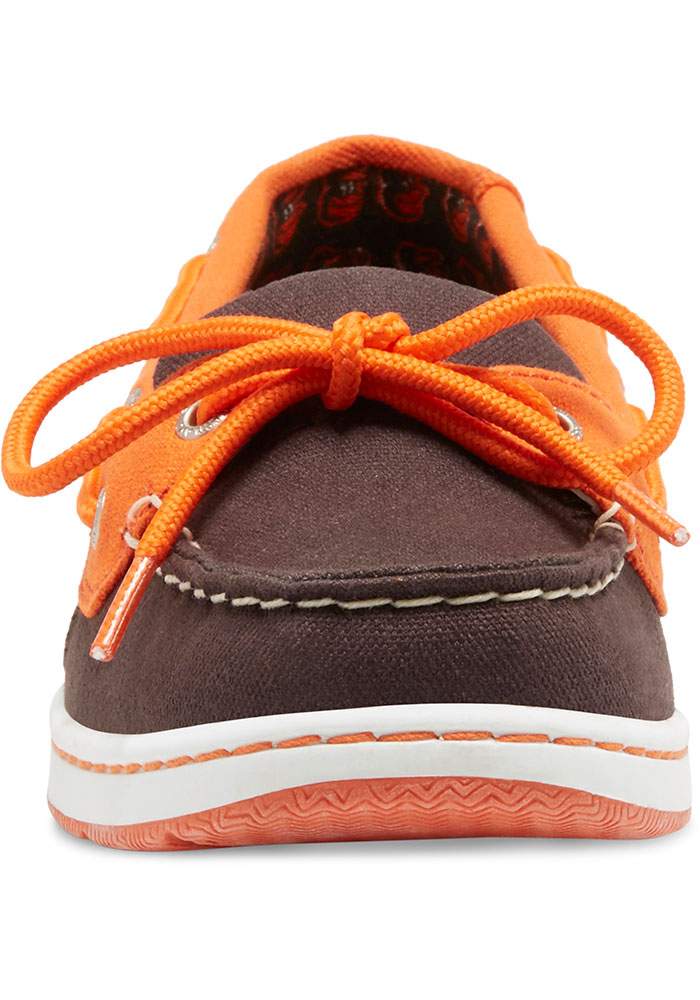 Baltimore Orioles Black Sunset Canvas Boat Womens Shoes - Image 4