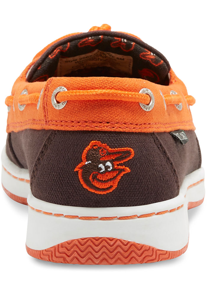 Baltimore Orioles Black Sunset Canvas Boat Womens Shoes - Image 5