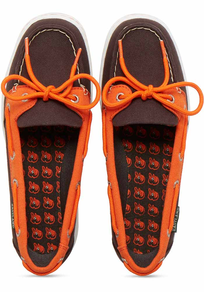 Baltimore Orioles Black Sunset Canvas Boat Womens Shoes - Image 6