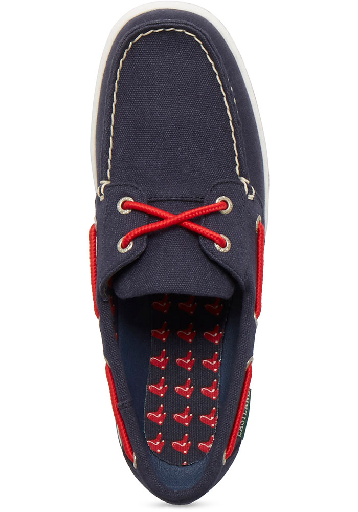 Boston Red Sox Navy Blue Solstice Canvas Boat Womens Shoes - Image 2