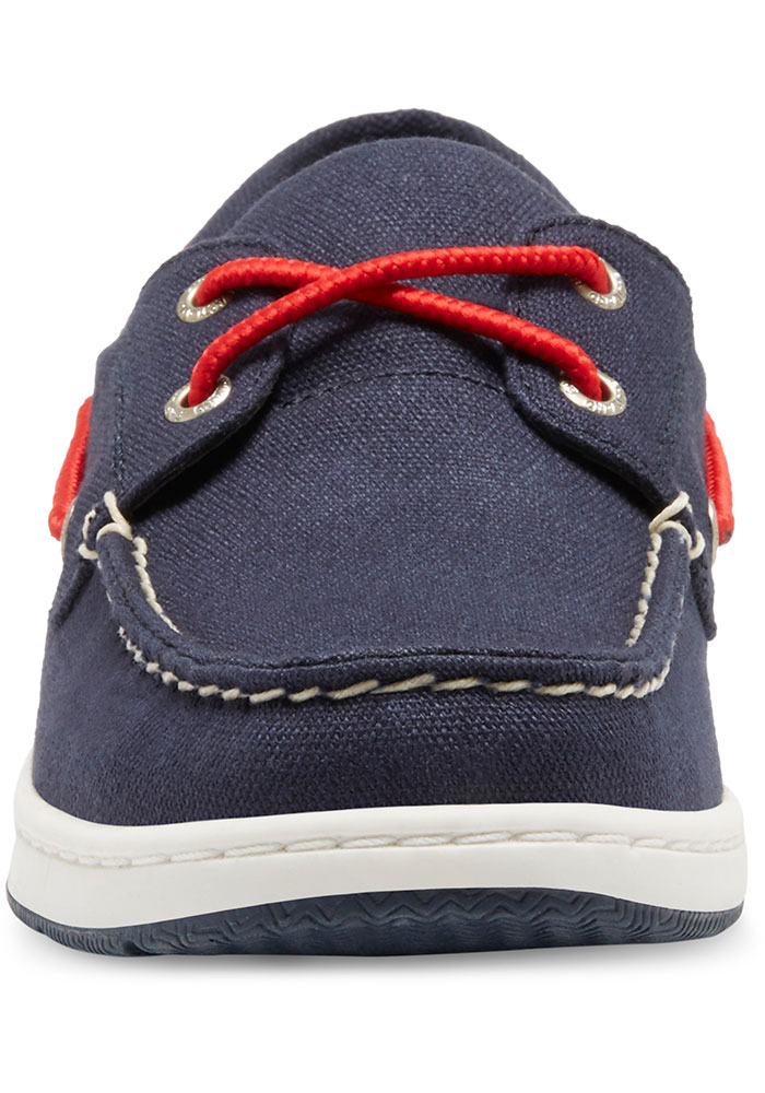 Boston Red Sox Navy Blue Solstice Canvas Boat Womens Shoes - Image 4