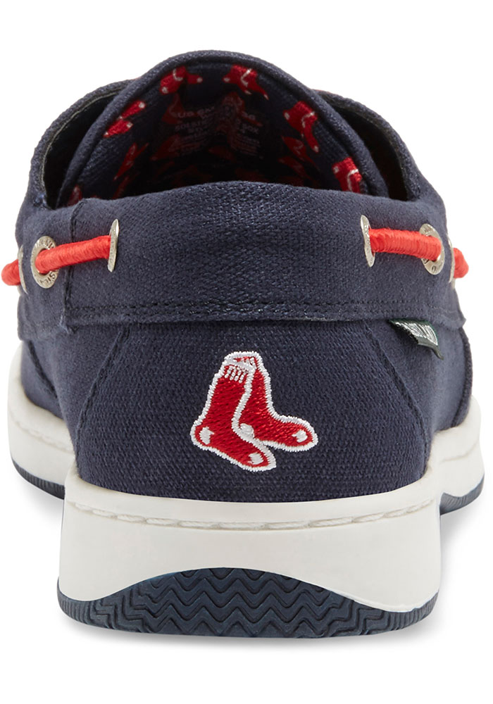 Boston Red Sox Navy Blue Solstice Canvas Boat Womens Shoes - Image 5