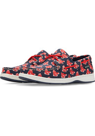 Boston Red Sox Womens Summer Canvas Boat Shoes - Navy Blue