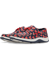 Boston Red Sox Summer Canvas Boat Shoes - Navy Blue