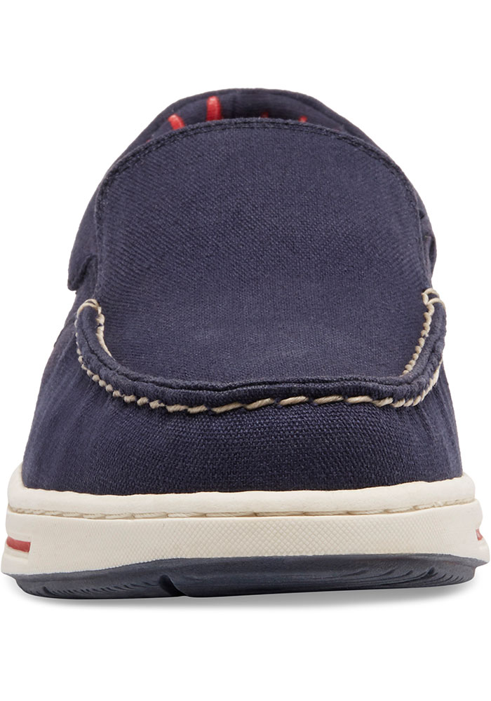 Boston Red Sox Navy Blue Surf Canvas Boat Mens Shoes - Image 4