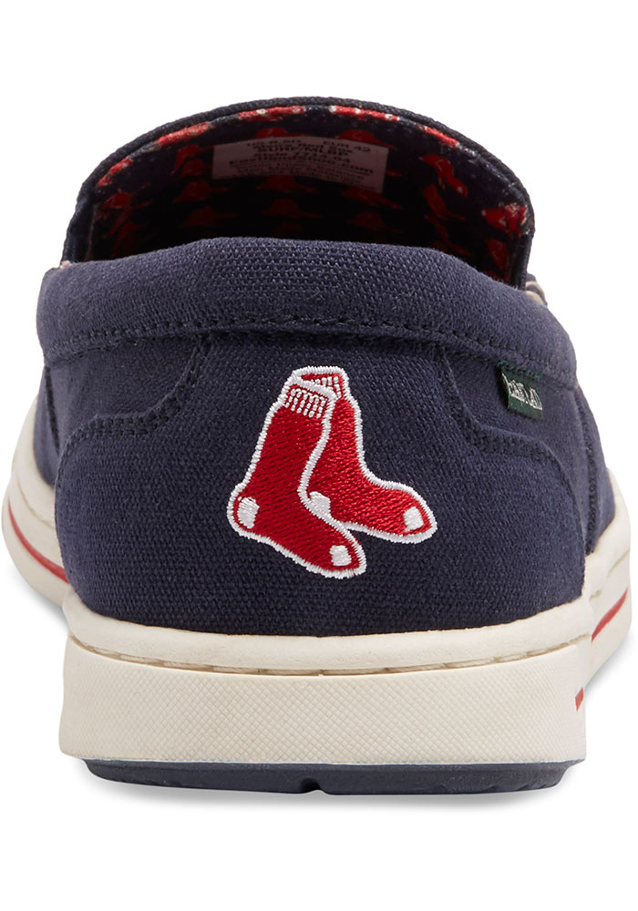 Boston Red Sox Navy Blue Surf Canvas Boat Mens Shoes - Image 5