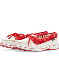 Los Angeles Angels Womens Sunset Canvas Boat Shoes - White