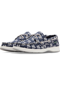 New York Yankees Womens Summer Canvas Boat Shoes - Navy Blue