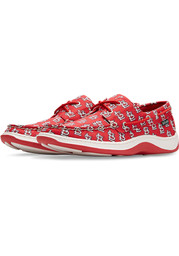 St Louis Cardinals Summer Canvas Boat Shoes - Red