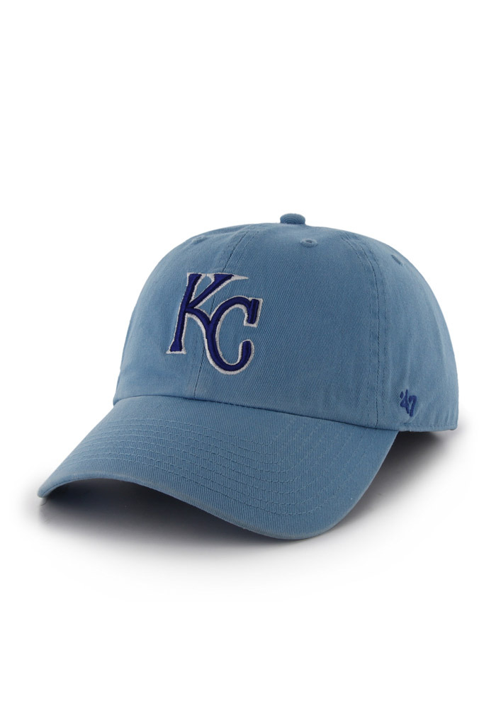 '47 Kansas City Royals Mens Light Blue 2014 World Series Champions Fitted Hat - Image 1
