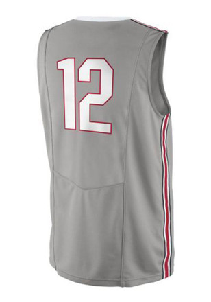 Nike The Ohio State University Mens Grey Replica Basketball Jersey