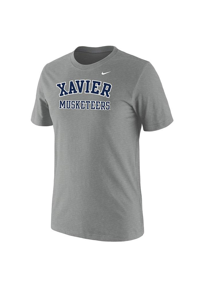 Nike Xavier Musketeers Grey Arch Short Sleeve T Shirt - Image 1