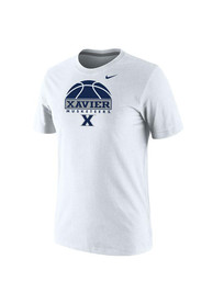 Nike Xavier Musketeers White Basketball Tee