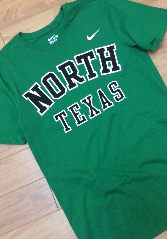 Nike North Texas Mean Green Green Arch Short Sleeve T Shirt - Image 2