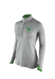 Nike North Texas Mean Green Womens Element Running Grey 1/4 Zip Pullover
