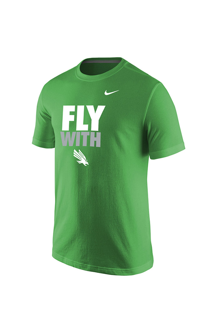 Nike North Texas Mean Green Green Fly With Short Sleeve T Shirt - Image 1