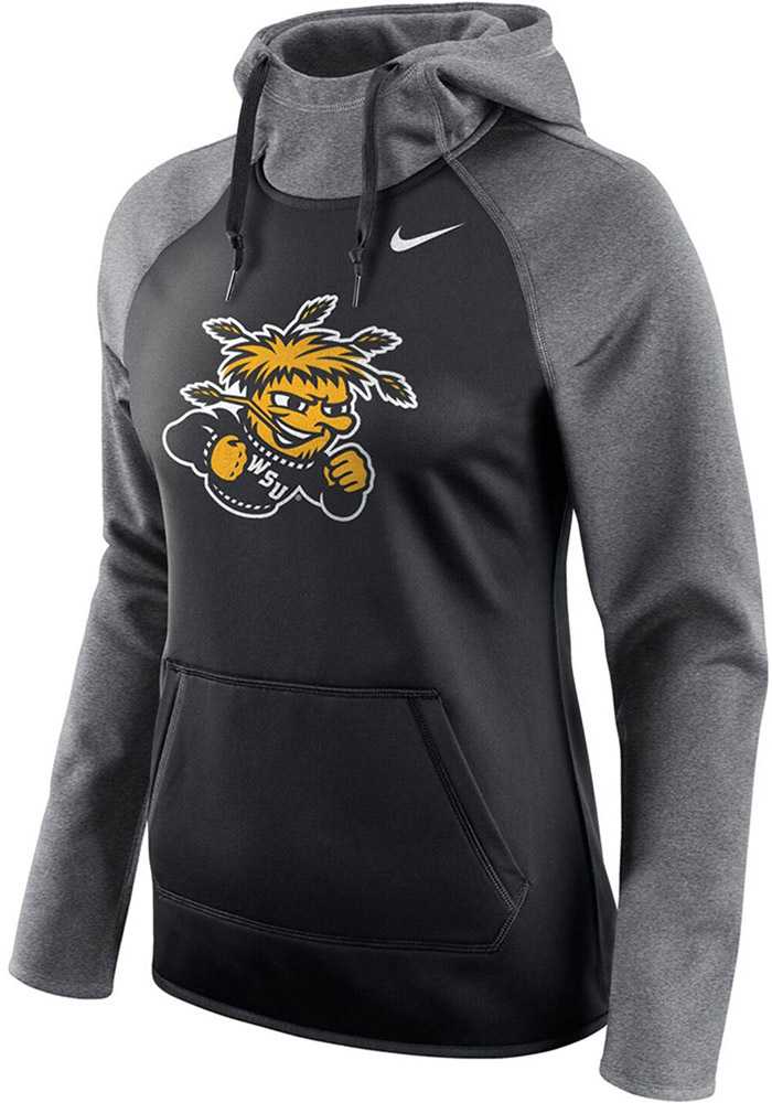 Wichita State Shockers Womens Black All Time Hooded Sweatshirt - Image 1