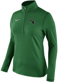 Nike North Texas Mean Green Womens Tailgate Element Green 1/4 Zip Pullover