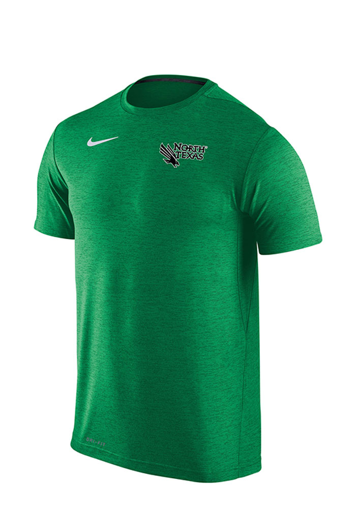 Nike North Texas Mean Green Green Dri-Fit Touch Short Sleeve T Shirt - Image 1