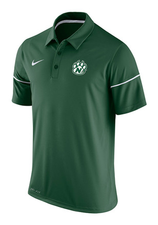 Nike Northwest Missouri State Bearcats Mens Green Team Issue Short Sleeve Polo Shirt