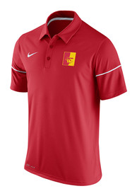Nike Pitt State Gorillas Red Team Issue Short Sleeve Polo Shirt