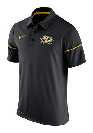 Nike Northern Kentucky Norse Mens Black Team Issue Short Sleeve Polo Shirt