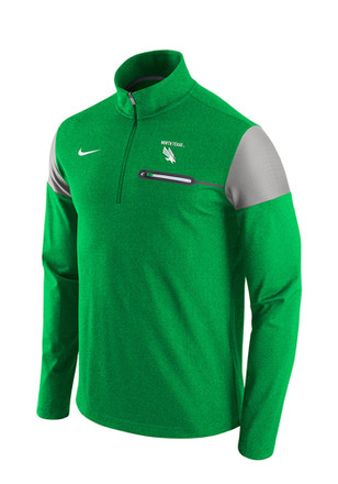 Nike UNT Mens Green Elite Coaches 1/4 Zip Performance Pullover