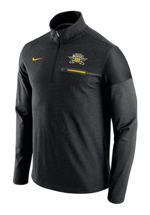 Nike NKU Norse Mens Black Elite Coaches 1/4 Zip Performance Pullover