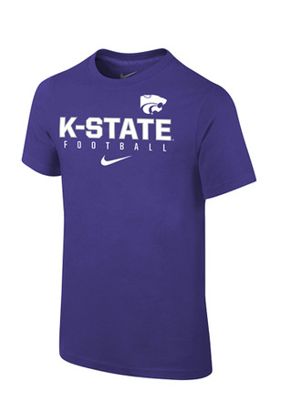 Nike K-State Wildcats Kids Purple Facility Sideline T-Shirt