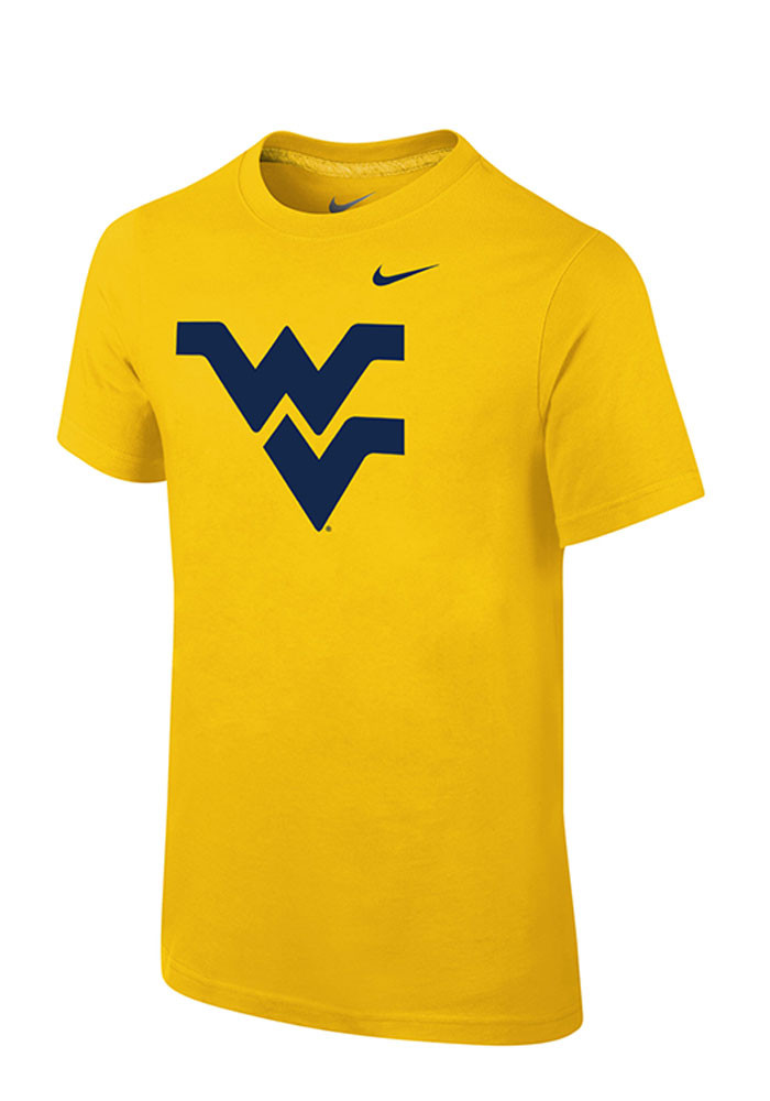 Nike West Virginia Mountaineers Youth Gold Basic Logo Short Sleeve T-Shirt - Image 1