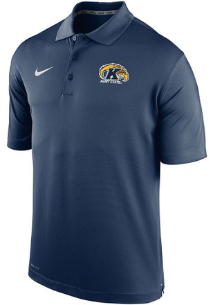 Nike Kent State University Mens Navy Blue Varsity Short Sleeve Polo Shirt