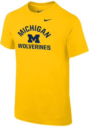 Nike Michigan Wolverines Kids Yellow Core T-Shirt