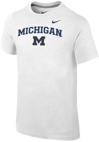Nike Michigan Wolverines Youth White Core T-Shirt