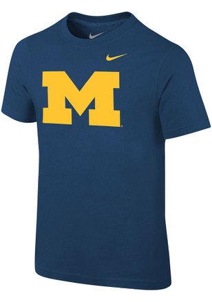 Nike Michigan Boys Navy Blue Core T-Shirt