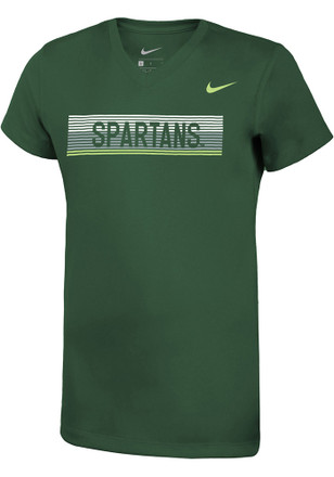 Nike Michigan State Spartans Girls Green Legend T-Shirt