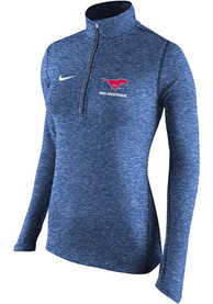 Nike SMU Mustangs Womens Element Blue 1/4 Zip Pullover