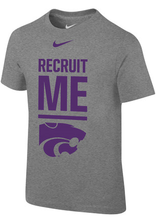 Nike K-State Wildcats Boys Grey Recruit Me T-Shirt
