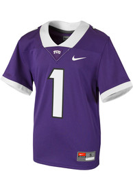 TCU Horned Frogs Youth Nike Replica Football Jersey - Purple